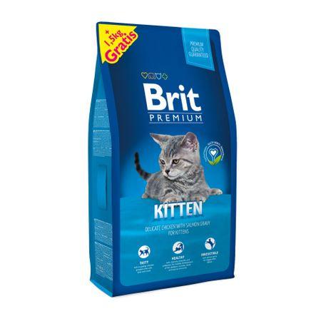 Brit Premium Cat Kitten 8 + 1,5 kg Zdarma