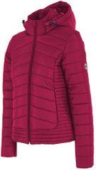 4F ženska zimska jakna H4Z17 KUD004, rožnato vijolična