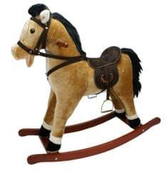 Alltoys Houpací kůň závodní - světle hnědý se zvukem - rozbaleno