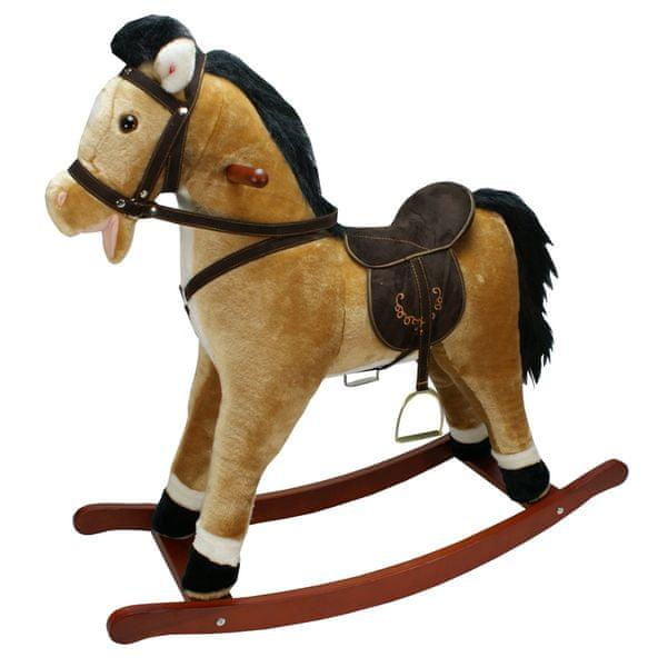Alltoys Houpací kůň závodní - světle hnědý se zvukem
