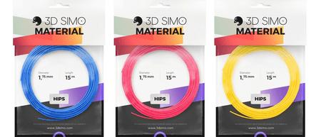 3Dsimo Filament HIPS - modrá, růžová, žlutá 15