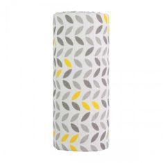 T-tomi Wielki materiałowy TETRA ręcznik szary/żółty