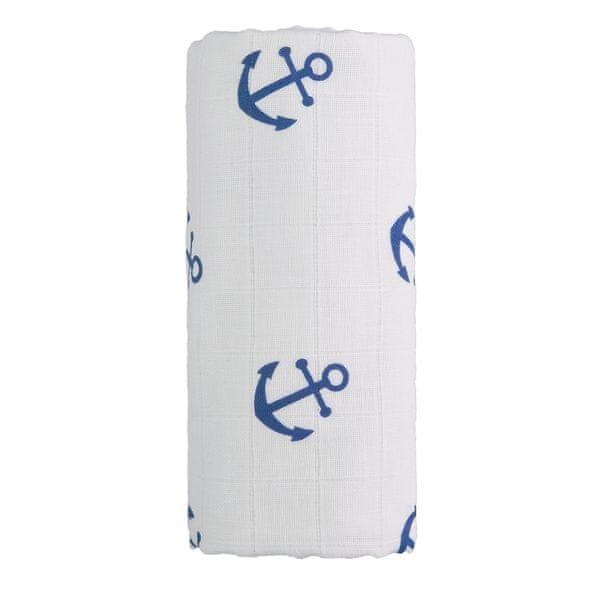 T-tomi Velká bavlněná TETRA osuška bílá/modrá