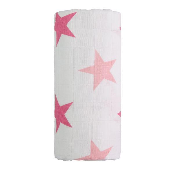 T-tomi Velká bavlněná TETRA osuška bílá/růžová