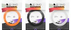 3Dsimo Filament ABS II - oranžová, černá, bílá 15m