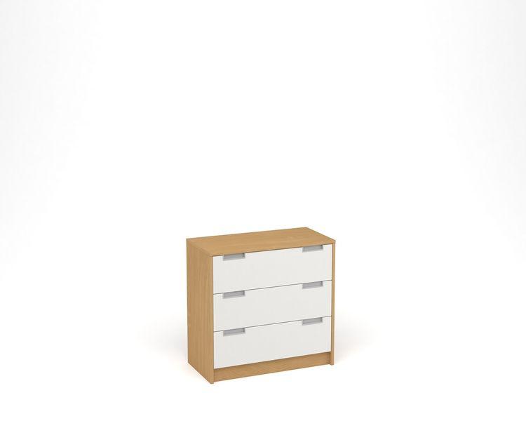 ANTERIA Komoda 3 zásuvky, buk/bílá