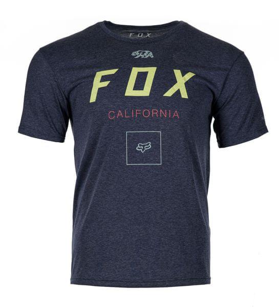 FOX pánské tričko Growled ss tech M modrá
