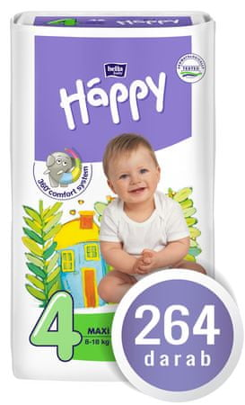 Bella Happy Pieluszki Maxi Big Pack - 264 szt.
