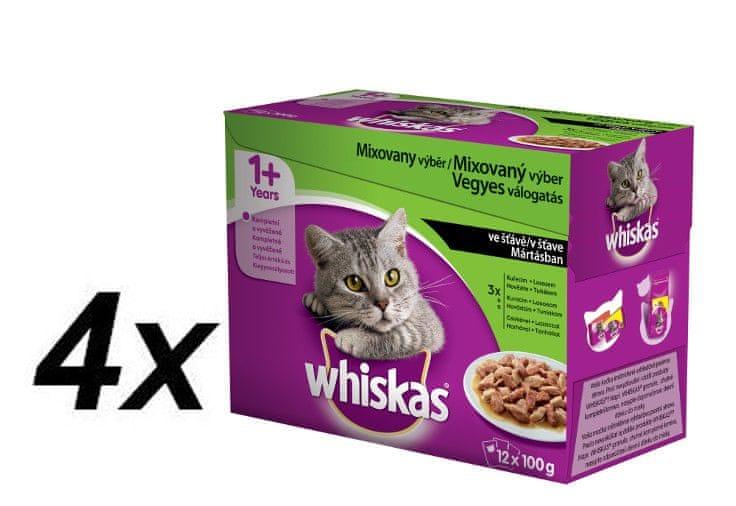 Whiskas kapsička Mixovaný výběr 4x (12x100g)