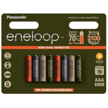 Panasonic Eneloop polnilne baterije, 750 mAh, AAA, 8 kosev, Limited Edition
