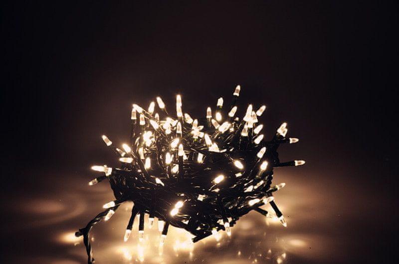 Seizis LED osvětlení 180 nábojových žárovek, teplá bílá