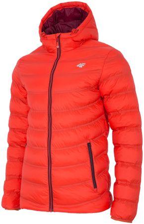 4F moška zimska jakna H4Z17 KUM003, oranžna, XL