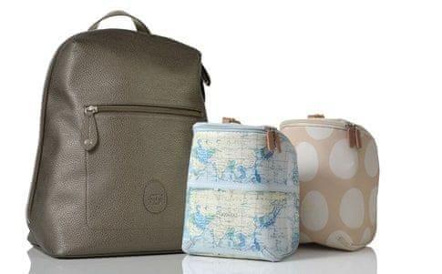 PacaPod HARTLAND přebalovací taška i batoh šedostříbrná