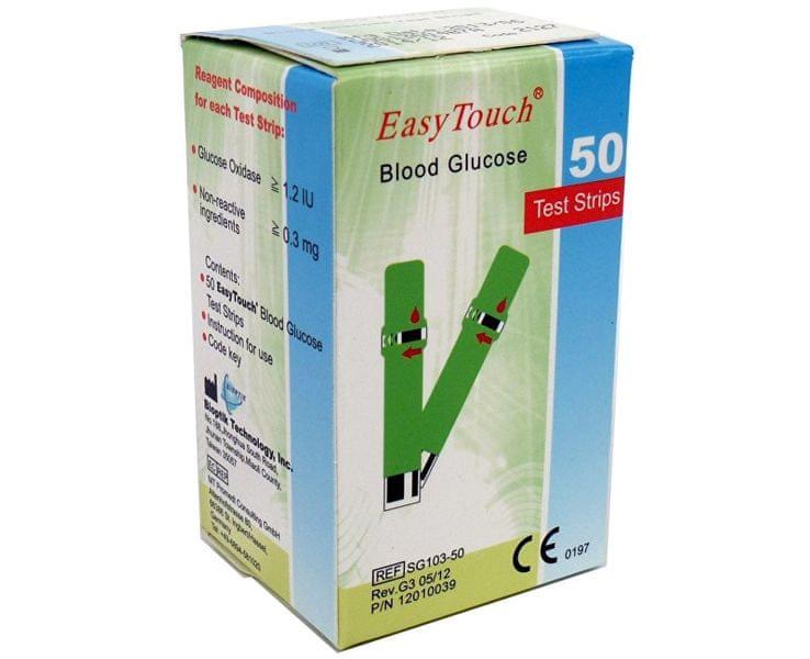 Proužky EasyTouch-glukóza 50ks