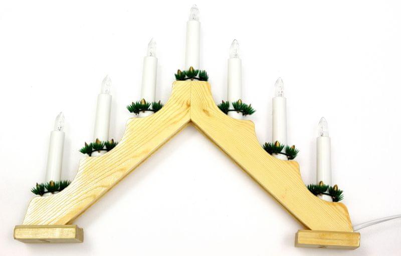 Seizis Elektrický svícen stříška, 7 žárovek, přírodní