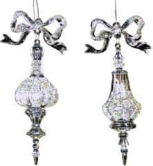 Seizis viseče dekoracija z mašnjo, 16 cm, 2 kosa