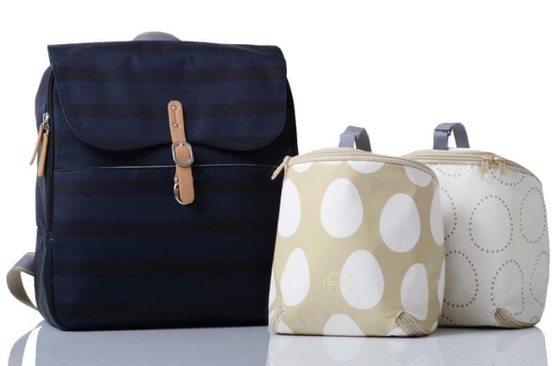 PacaPod HASTINGS - batoh i přebalovací taška tmavě modrá