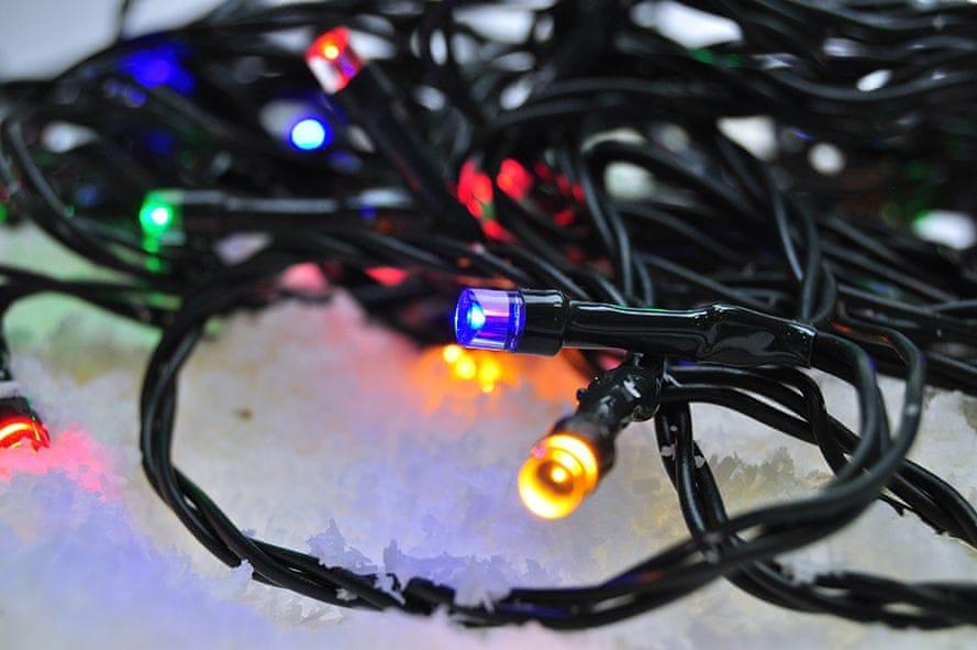 Solight venkovní vánoční řetěz 200 LED 20 m, vícebarevný