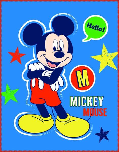 CTI Fleece dečka Mickey Expression 110x140 cm