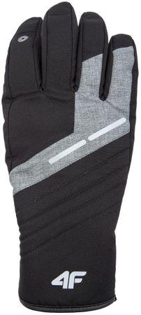 4F męskie rękawice narciarskie H4Z17 REM002 czarny XL
