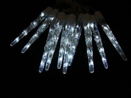 Seizis sople lodu LED, 20 cm, 10 szt., białe