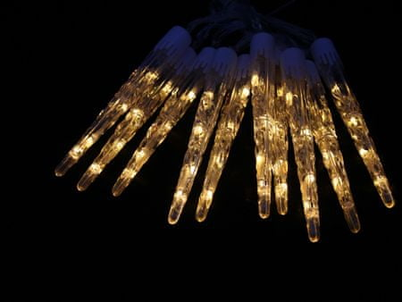 Seizis LED kapající rampouchy 20 cm, 10 ks, teple bílé