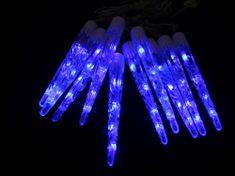 Seizis LED  sople lodu 20 cm, 10 szt, niebieskie światło