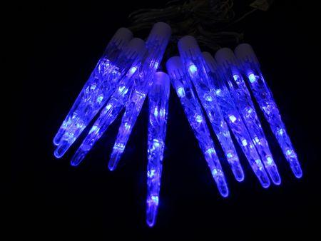 Seizis LED kvapkajúce cencúle 20 cm, 10 ks, modré