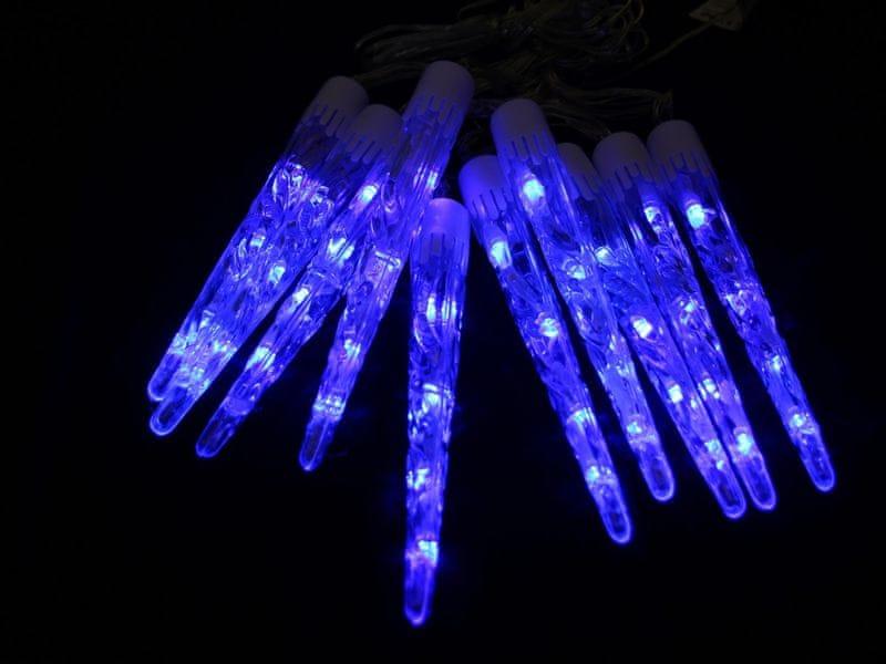 Seizis LED kapající rampouchy 20 cm, 10 ks, modré