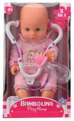 Alltoys Bábika Bambolina so stetoskopom a dojčenskou fľaštičkou 33 cm