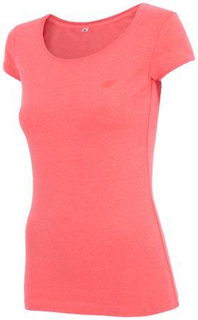 4F damska koszulka H4Z17 TSD001 koralowy melanż XS