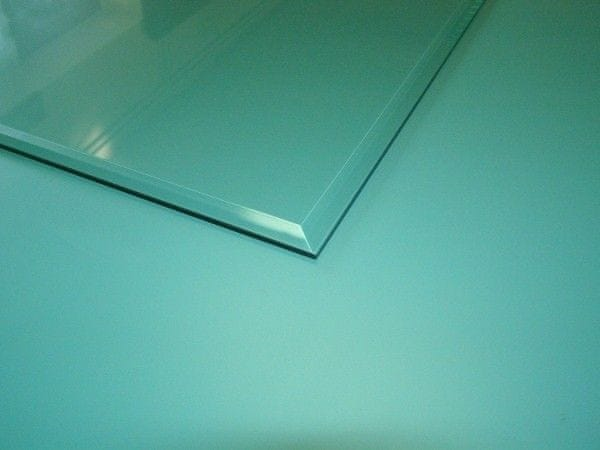 Lienbacher Sklo pod kamna slza s fazetou 110x110 cm