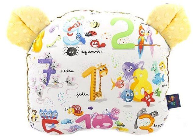 CuddlyZOO Oboustranný polštářek s oušky žlutá