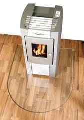 Lienbacher Üveg a tűzhely alá, félkör csiszolt éllel 100x100