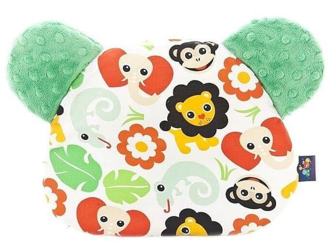 CuddlyZOO Oboustranný polštářek s oušky zelená