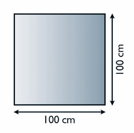 Lienbacher Sklo pod kamna čtverec s fazetou 100x100