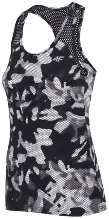 4F damska koszulka sportowa H4Z17 TSDF001 allover czarno-biały M