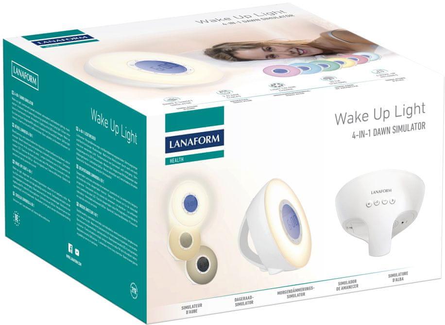 Lanaform Wake Up Light, světelný budík s rádiem