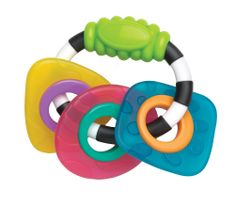 Playgro živobarvna ropotuljica z grizali Textured Teething