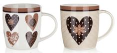Banquet Kubek ceramiczny CHOCO HEARTS 360 ml