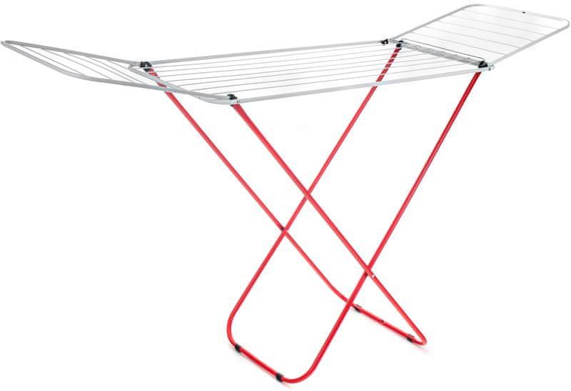 BRILANZ Sušák na prádlo ECONOMY 16 m bílo-červený