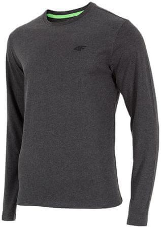 4F koszulka z długim rękawem H4Z17 TSML001 ciemny szary melanż M