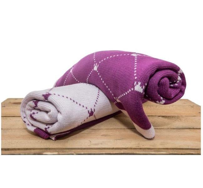 CuddlyZOO CuddlyZOO Bavlněná deka fialová