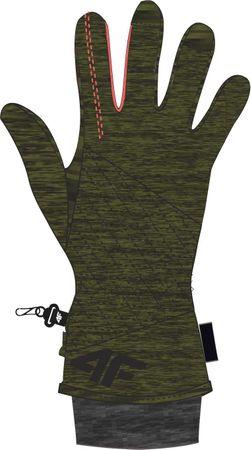 4F damskie rękawice narciarskie H4Z17 RED003A brąz S