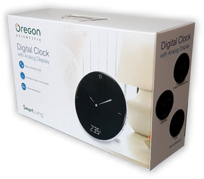 Oregon Scientific RM120W Digitální budík s analogovým zobrazením času