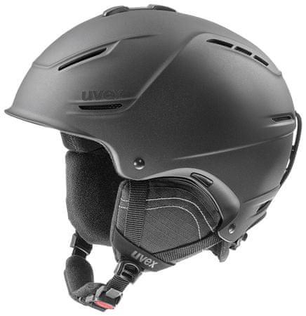 Uvex smučarska čelada P1US 2.0, mat črna, 59-62