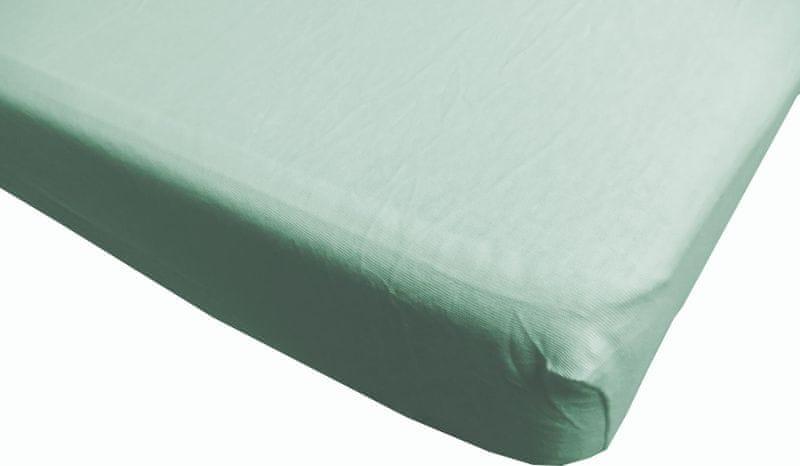 Jerry Fabrics prostěradlo s lycrou 180x200 zelená