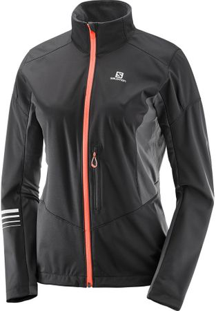 Salomon Lightning Sshell Jkt W Black/Forged Iron S