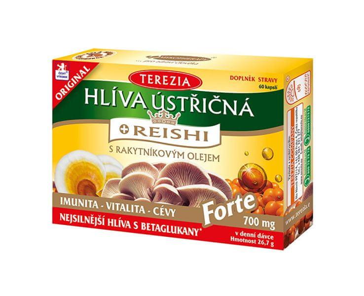 TEREZIA COMPANY Hlíva ústřičná s rakytníkovým olejem a reishi FORTE 60 kapslí