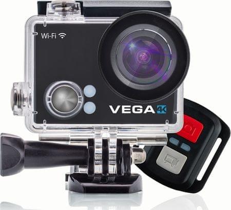 Niceboy sportska kamera Vega 4K Black + daljinski upravljač